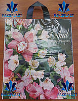 """Пакет Полиэтиленовый """"петля"""" 40х43 Орхидея (50 шт)"""
