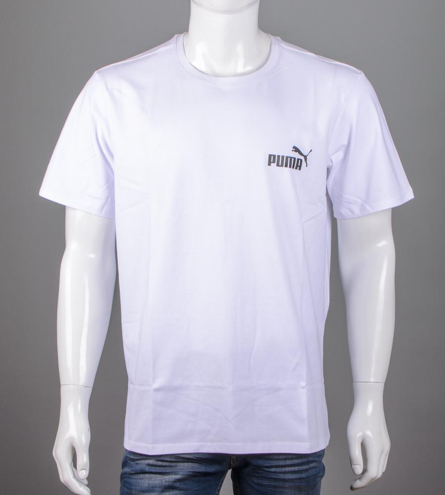 Футболка чоловіча батал Puma (2108б), Білий