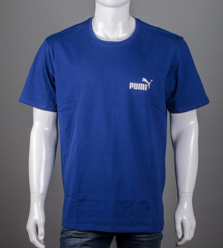 Футболка чоловіча батал Puma (2108б), Синій