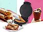 Вафельниця DSP KC1144 електрична біла | Электровафельница для тонких вафель, фото 2