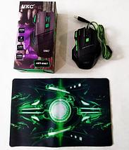 Мышка игровая UKC GAMING MOUSE 7D с ковриком  Компьютерная игровая мышка с LED подсветкой, фото 3