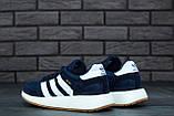 Мужские кроссовки Adidas Iniki (dark blue), синие кроссовки Адидас Иники (Реплика ААА), фото 8