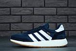 Мужские кроссовки Adidas Iniki (dark blue), синие кроссовки Адидас Иники (Реплика ААА), фото 4