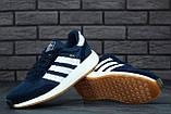 Мужские кроссовки Adidas Iniki (dark blue), синие кроссовки Адидас Иники (Реплика ААА), фото 6