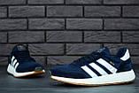 Мужские кроссовки Adidas Iniki (dark blue), синие кроссовки Адидас Иники (Реплика ААА), фото 7