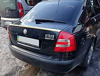 Спойлер багажника ( сабля, лип спойлер ) Skoda Octavia A5 2004-2013 г.в.  ABS пластик