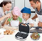 Вафельниця DSP КС1058 електрична біла | сэндвичница электровафельница для бельгійських вафель, фото 2