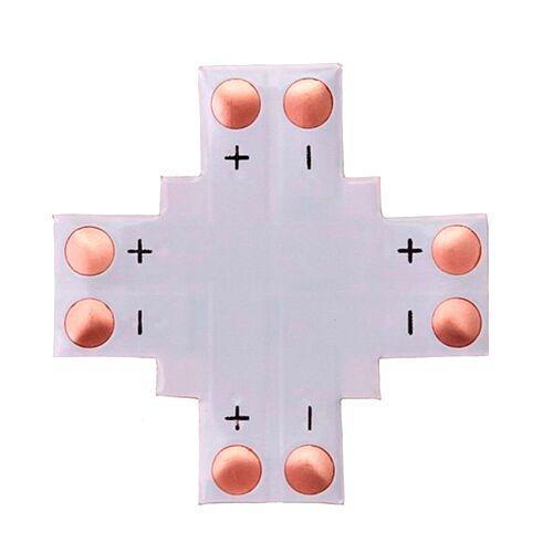 Конектор X-подібний для світлодіодних стрічок 10мм SMD 5050 WS2811 WS2812