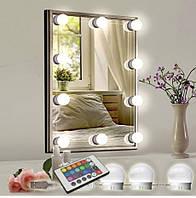 LED підсвічування для дзеркала Vicco RGB, 10 лампочок + пульт Подсветка зеркала