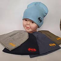 Шапка трикотажная Опто на 7 км от производителя в Одессе для мальчика двойная р 52-54 оптом