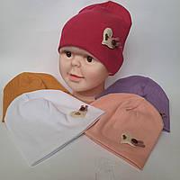 Шапка Оптом от производителя на 7 км в Одессе для девочки двойная ткань рубчик  р 44-46 оптом