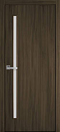 Двері міжкімнатні Глорія скло сатин Еко Шпон, Кедр, 700