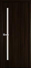 Двері міжкімнатні Глорія скло сатин Еко Шпон, Венге Brown, 600