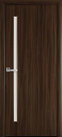 Двері міжкімнатні Глорія скло сатин Еко Шпон, Горіх 3D, 800