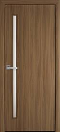 Двері міжкімнатні Глорія скло сатин Еко Шпон, Вільха 3D, 800