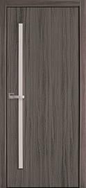 Двері міжкімнатні Глорія скло сатин Еко Шпон, Дуб Атлант, 900