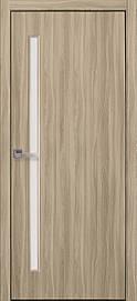 Двері міжкімнатні Глорія скло сатин Еко Шпон, Сандал, 700