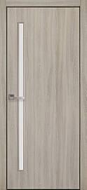 Двері міжкімнатні Глорія скло сатин Еко Шпон, Ясен патина, 600