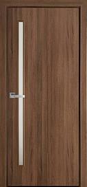 Двери Новый Стиль Глория стекло сатин ПВХ DeLuxe, Золотая ольха, 700