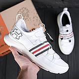 Чоловічі шкіряні кросівки/ взуття Чоловіче/ Чоловічі білі кросівки/ Чоловічі кросівки / Чоловіче взуття, фото 2