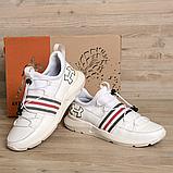 Мужские белые кожаные кроссовки Under, фото 5