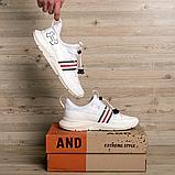 Мужские белые кожаные кроссовки Under, фото 6