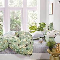Евро комплект постельного белья из сатина Homeline Летний день (152396)