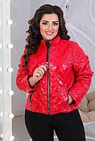 """Куртка жіноча демісезонна стильна розміри 42-44 (червоний)""""VLADA"""" купити недорого від прямого постачальника"""