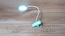 Настільна світлодіодна лампа на прищіпці XPC 7300, прищіпка, дзеркало, 4W, USB, акумулятор 18650