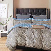Евро комплект постельного белья из сатина Homeline Браун Форест (143676)