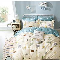 Евро комплект постельного белья из сатина Homeline Сафари (143545)