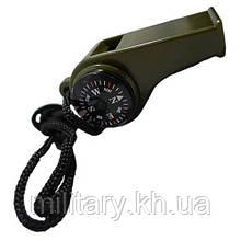 Свисток с компасом и термометром, [182] Olive