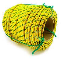 Шнур полипропиленовый фал плетеный Ø8мм 100м цветной