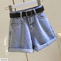Женские джинсовые шорты с поворотами, фото 1