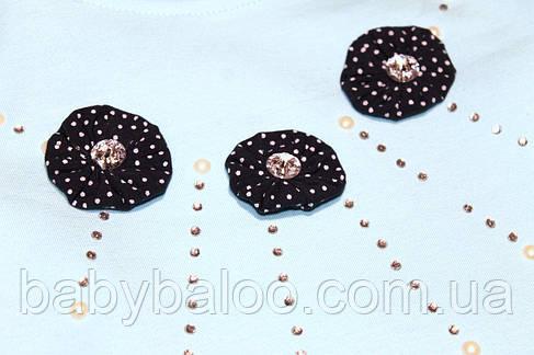 Гольф-стійка дівчинка 3 квіточки горошки( від 5 до 8 років)мікро начіс - арт.54694818, фото 2