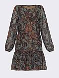 Короткое платье из шифона в цветочном принте, фото 9