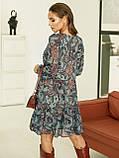 Короткое платье из шифона в цветочном принте, фото 8