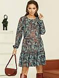 Короткое платье из шифона в цветочном принте, фото 5