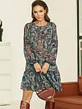 Короткое платье из шифона в цветочном принте, фото 6