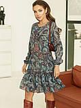 Короткое платье из шифона в цветочном принте, фото 7