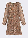 Короткое платье из шифона в цветочном принте, фото 4