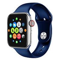 Smart Watch T500, голосовой вызов, стальные синие