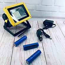 Переносной прожектор светодиодный ручной фонарь - Bailong BL-204 3 режима 30W