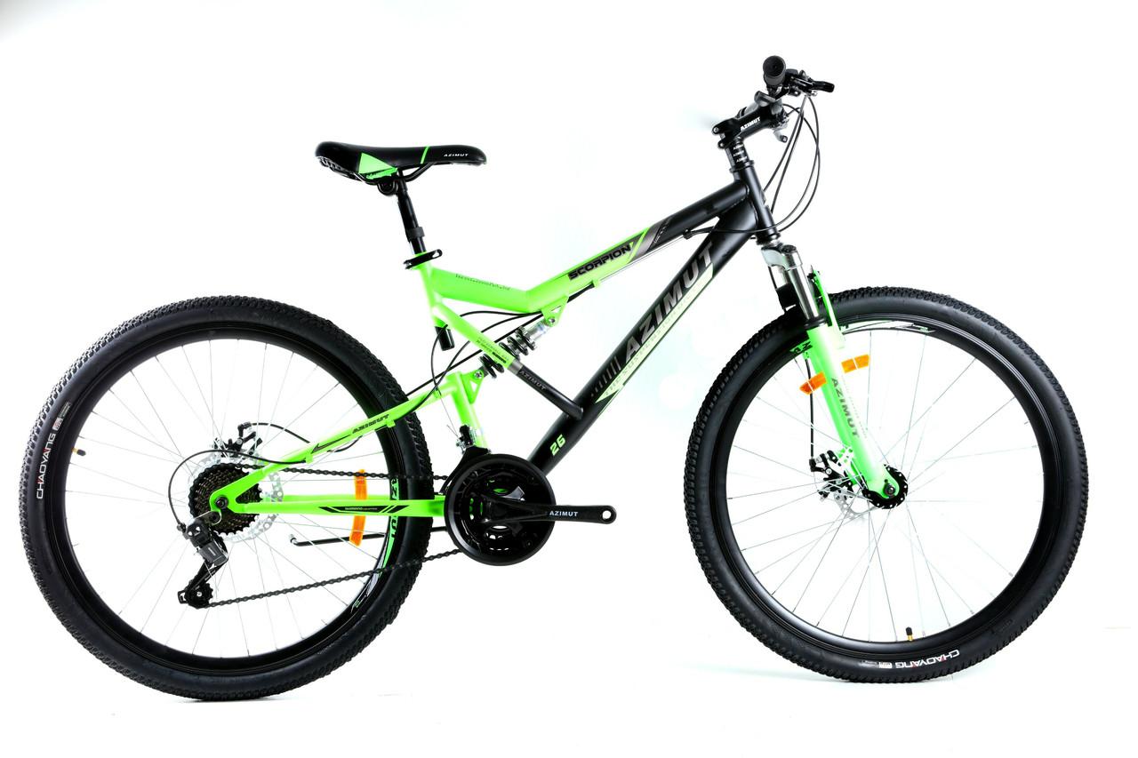 Велосипед Azimut Scorpion Шимано  24 х 17