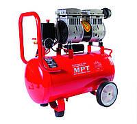 Компрессор PROFI OIL FREE 24 л, 800 Вт, 1450 об/мин, 7 атм, медная обмотка, бесшумный MPT MAC80243S