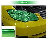 Авто пленка защитная Annhao глянцевая зеленая 30х100см тонировочная броне ударостойкая, фото 5