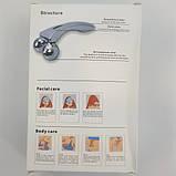 Лифтинг массажер для лица и тела UKC антицеллюлитный 3D MASSAGER Серебристый (258573), фото 5