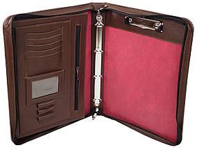 Деловая папка из натуральной кожи Portfolio Коричневый (Port1004 brown)