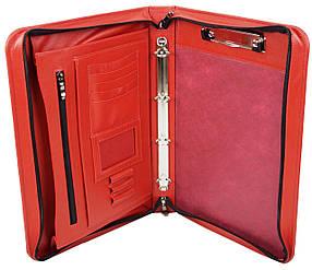 Деловая папка из натуральной кожи Portfolio Красный (Port1005 red)