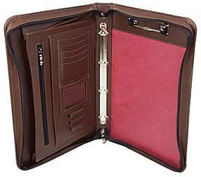 Деловая папка из натуральной кожи Portfolio Коричневый (Port1005 brown)
